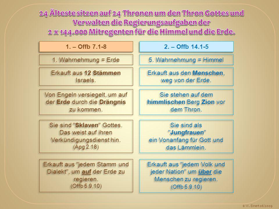24 Älteste sitzen auf 24 Thronen um den Thron Gottes und