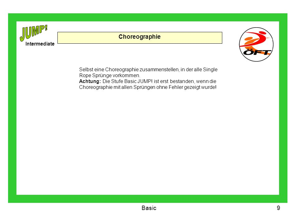 JUMP! Choreographie Basic Intermediate