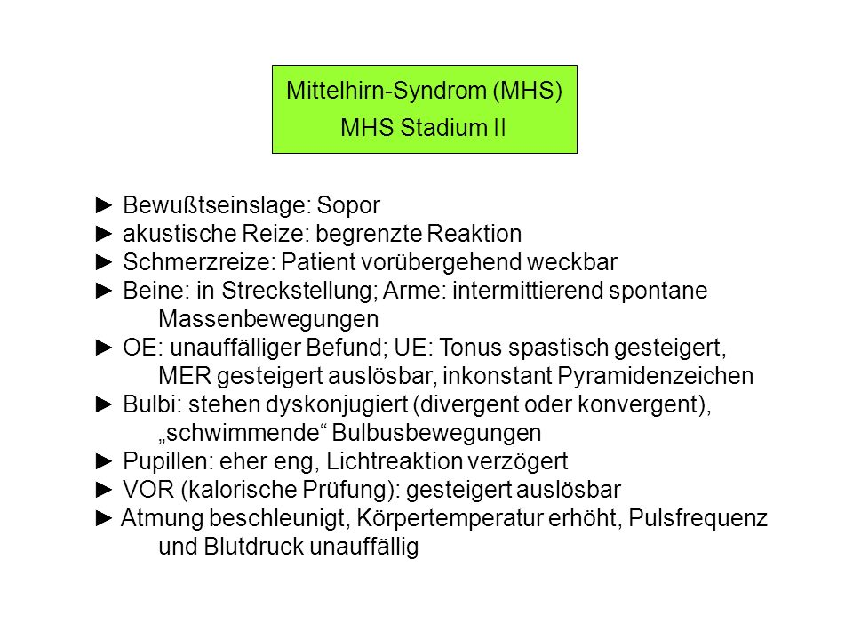 Mittelhirn-Syndrom (MHS)