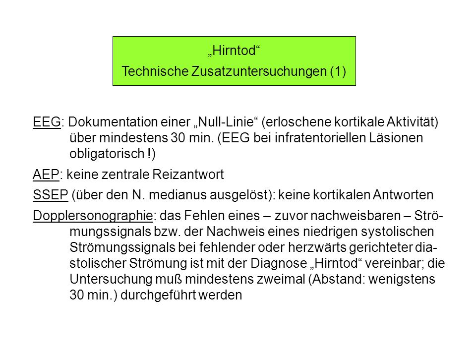 Technische Zusatzuntersuchungen (1)