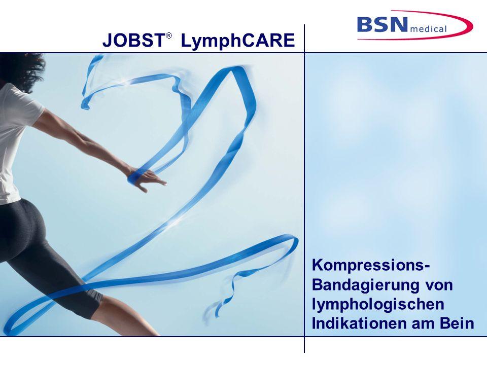 Kompressions-Bandagierung von lymphologischen Indikationen am Bein