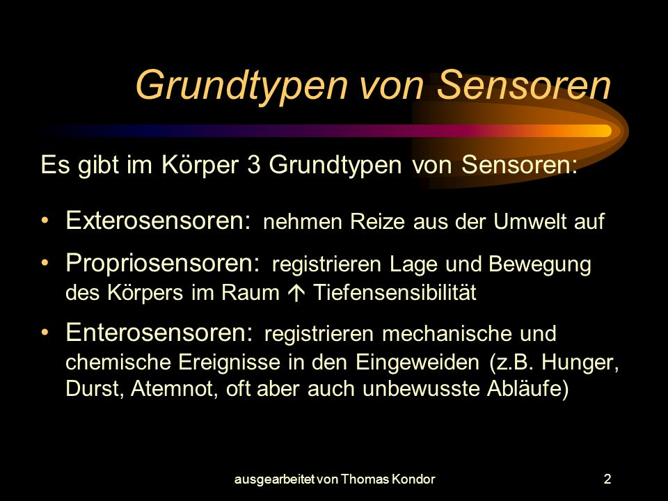 Grundtypen von Sensoren