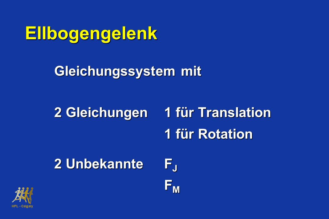 Ellbogengelenk Gleichungssystem mit