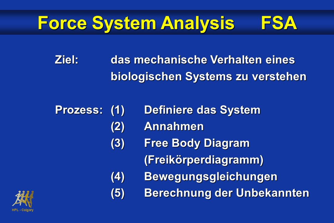 Force System Analysis FSA