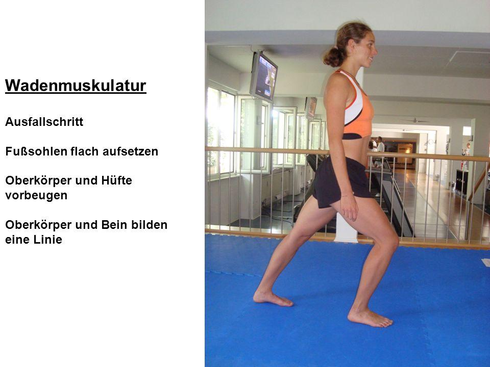 Wadenmuskulatur Ausfallschritt Fußsohlen flach aufsetzen