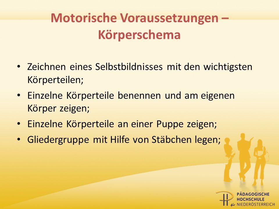 Motorische Voraussetzungen – Körperschema