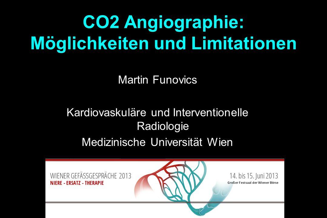 CO2 Angiographie: Möglichkeiten und Limitationen