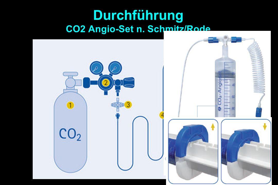 Durchführung CO2 Angio-Set n. Schmitz/Rode