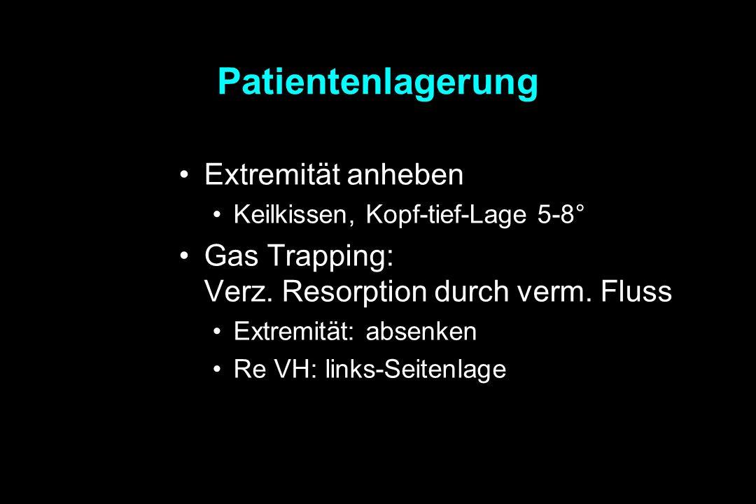 Patientenlagerung Extremität anheben