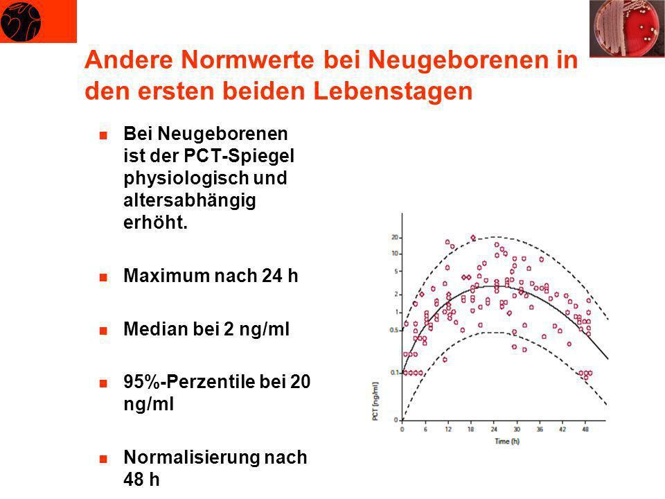Andere Normwerte bei Neugeborenen in den ersten beiden Lebenstagen