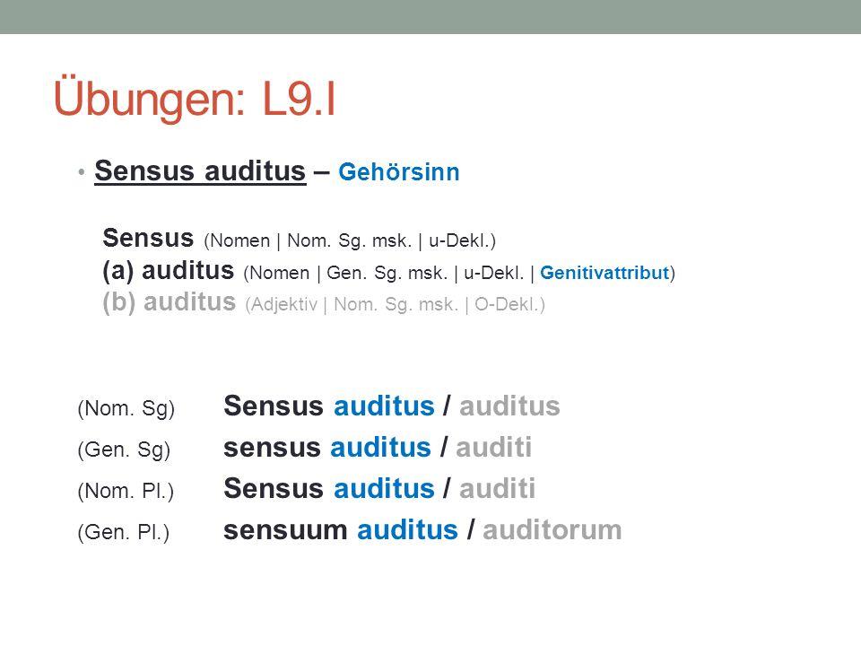 Übungen: L9.I Sensus auditus – Gehörsinn