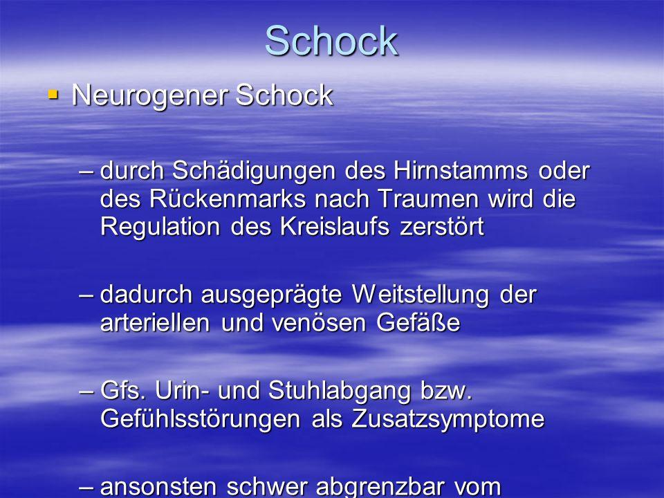 Schock Neurogener Schock