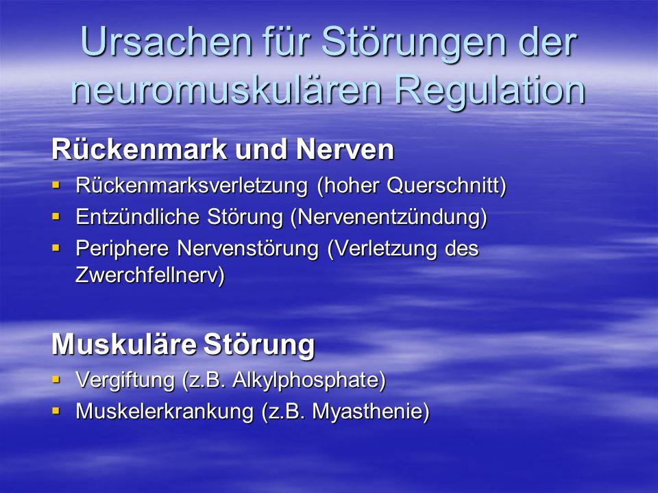 Ursachen für Störungen der neuromuskulären Regulation