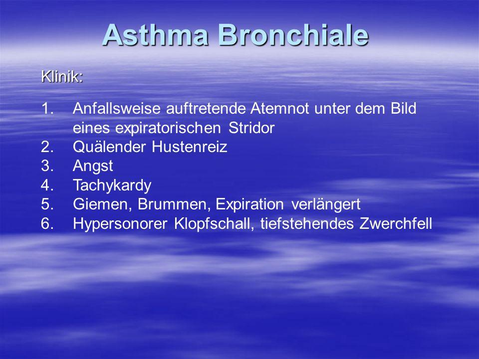 Asthma Bronchiale Klinik: