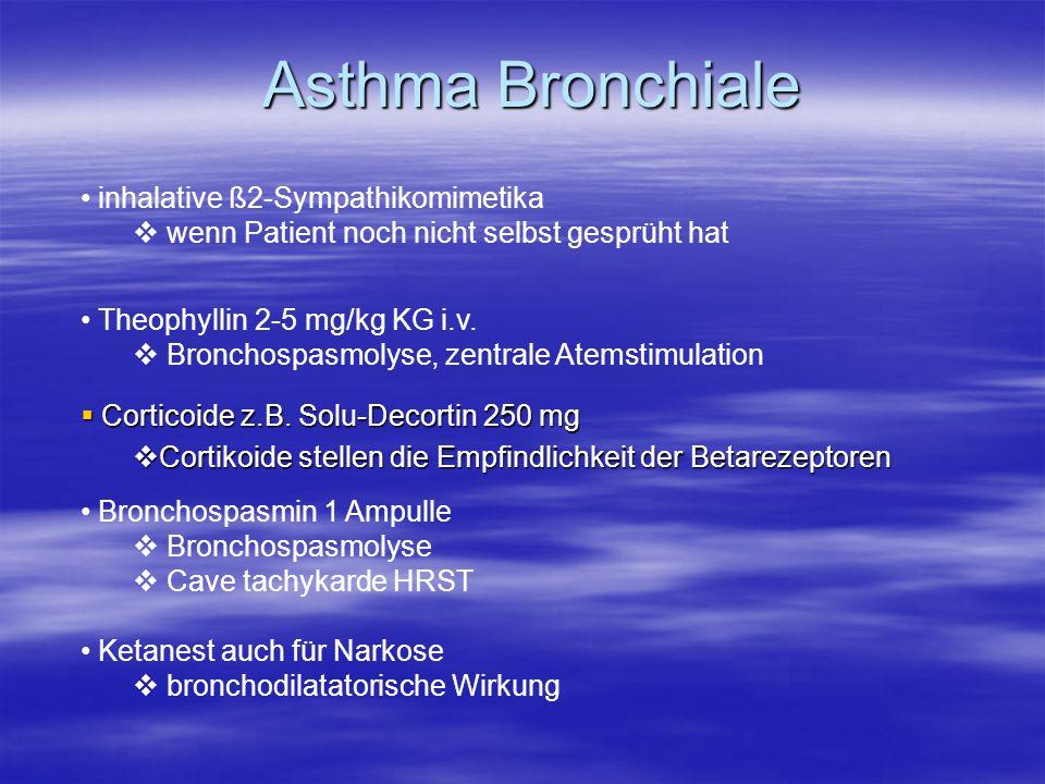 Asthma Bronchiale inhalative ß2-Sympathikomimetika