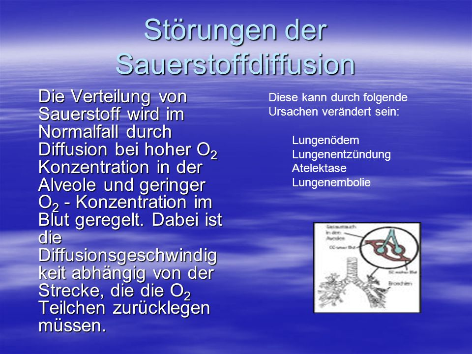 Störungen der Sauerstoffdiffusion