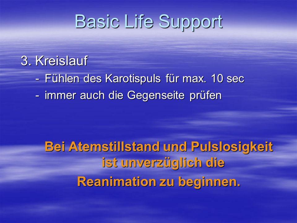 Basic Life Support 3. Kreislauf