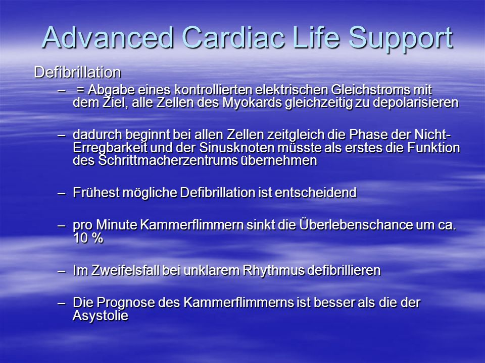 Advanced Cardiac Life Support