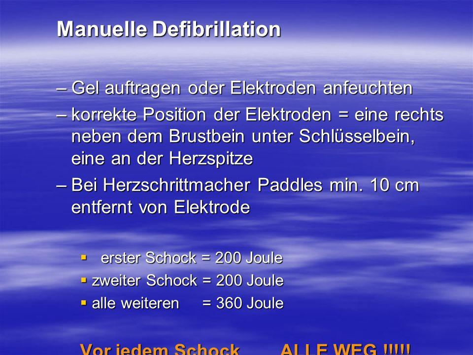 Manuelle Defibrillation