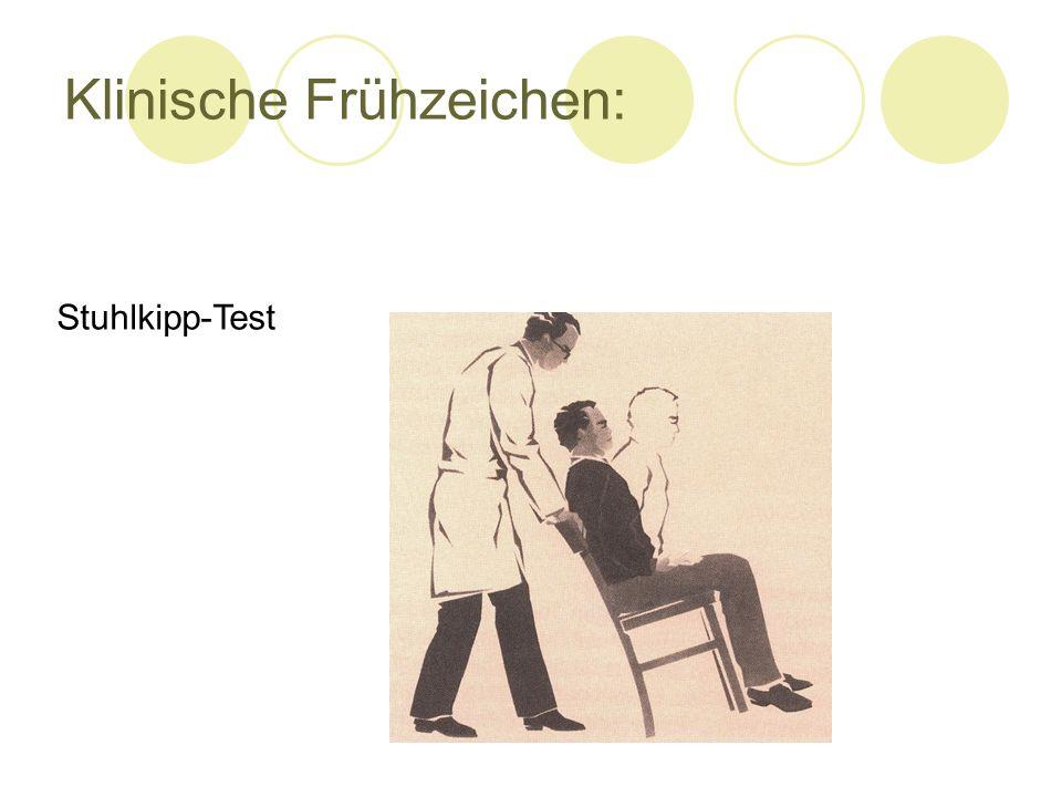 Klinische Frühzeichen:
