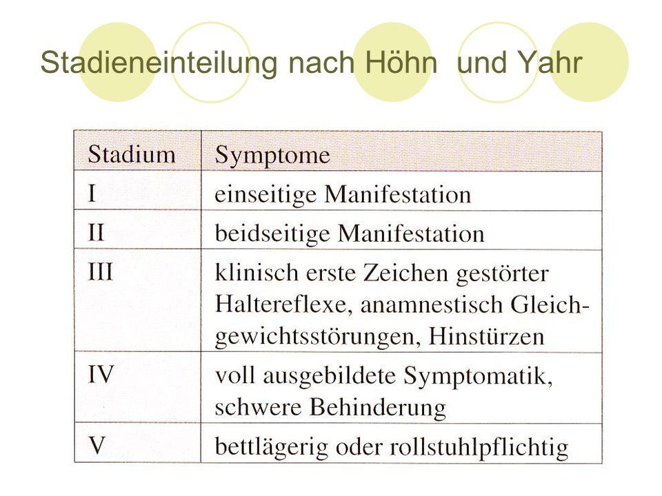 Stadieneinteilung nach Höhn und Yahr