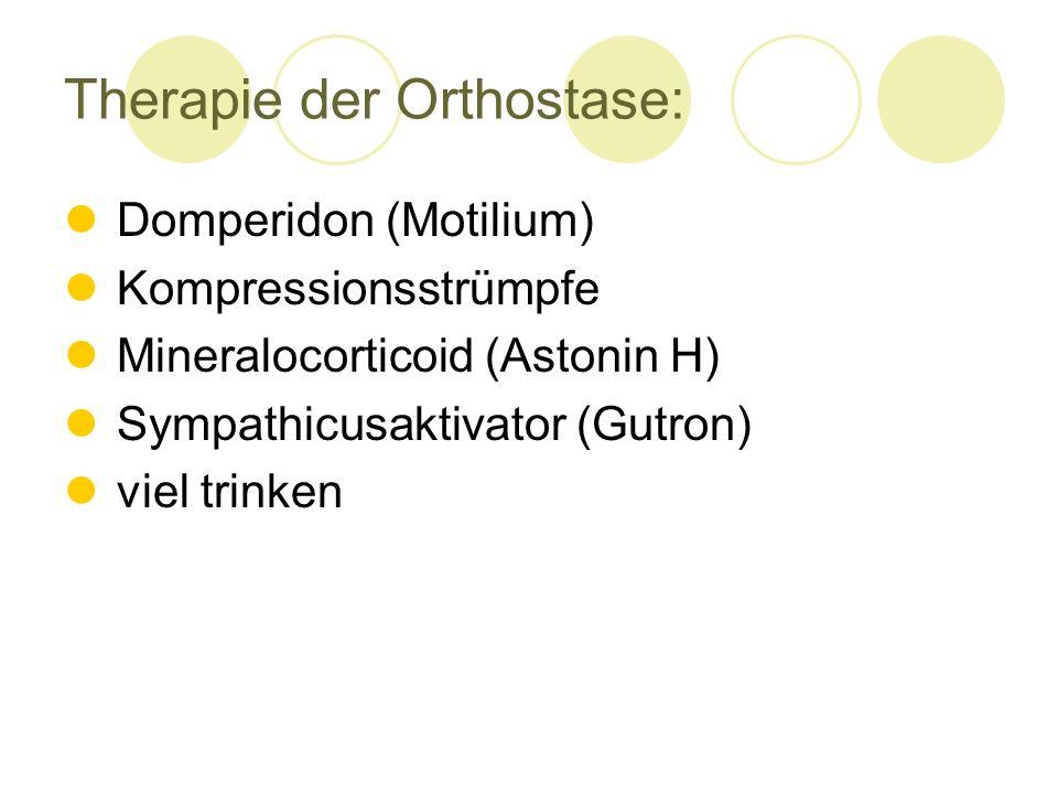 Therapie der Orthostase: