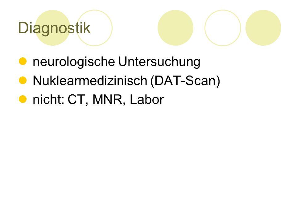 Diagnostik neurologische Untersuchung Nuklearmedizinisch (DAT-Scan)