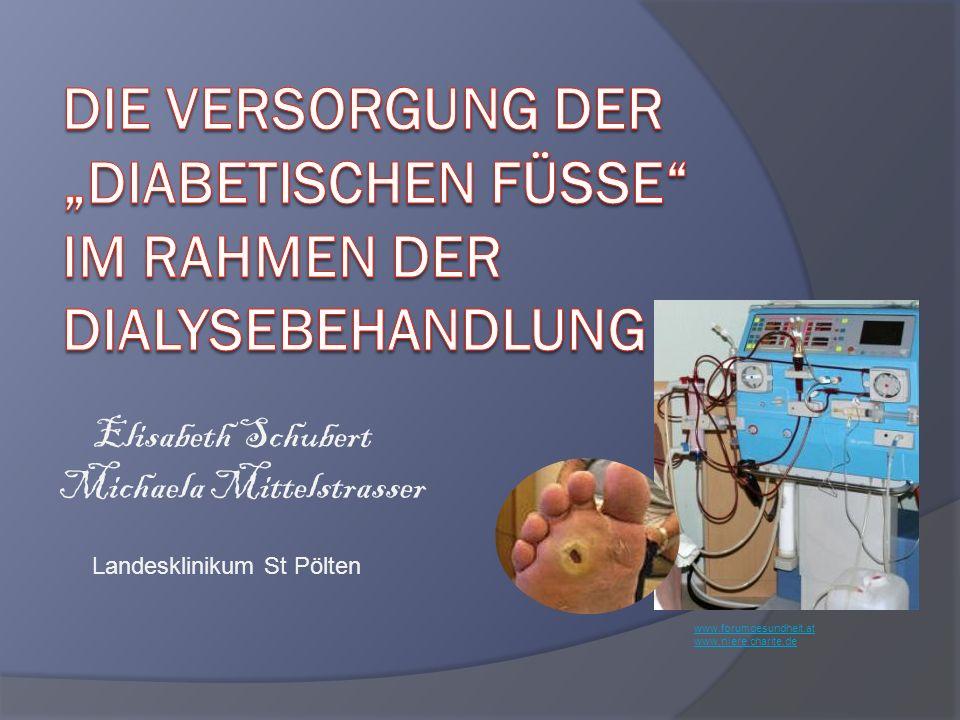 """Die Versorgung der """"diabetischen füsse im rahmen der dialysebehandlung"""