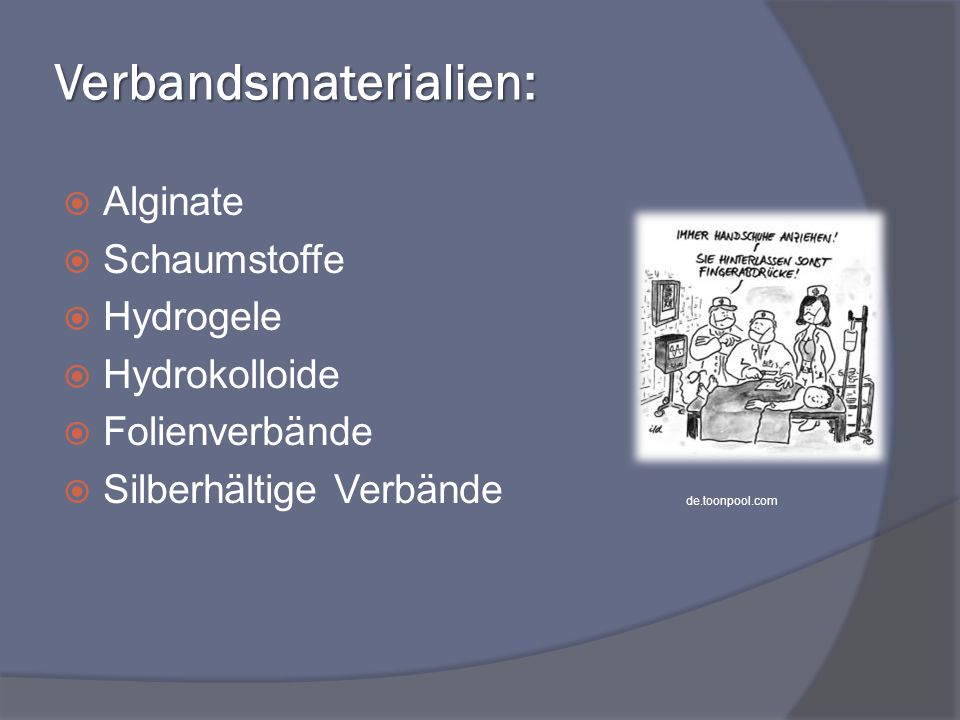 Verbandsmaterialien: