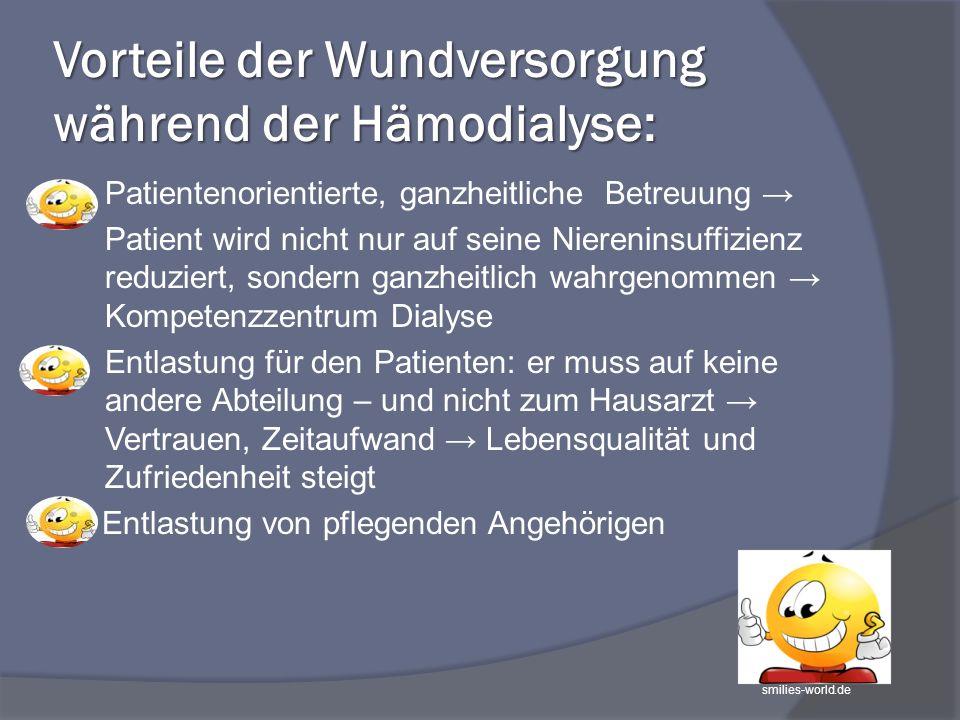 Vorteile der Wundversorgung während der Hämodialyse: