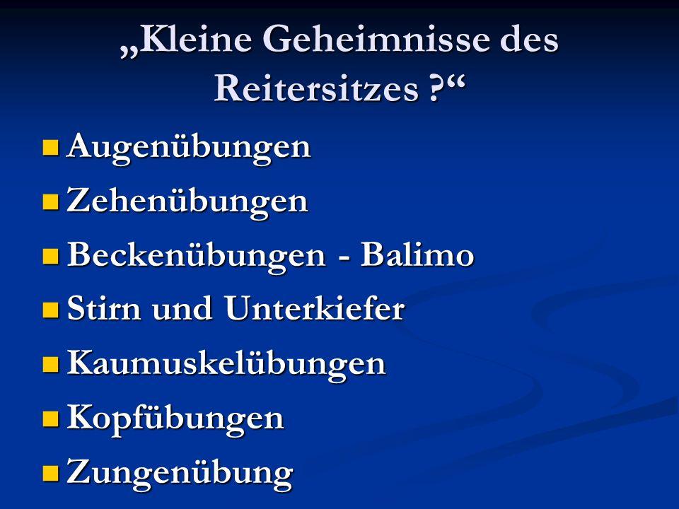 """""""Kleine Geheimnisse des Reitersitzes"""