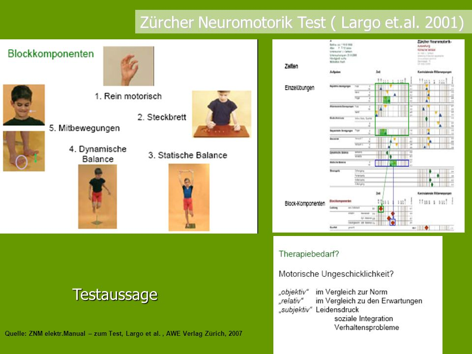 Zürcher Neuromotorik Test ( Largo et.al. 2001)