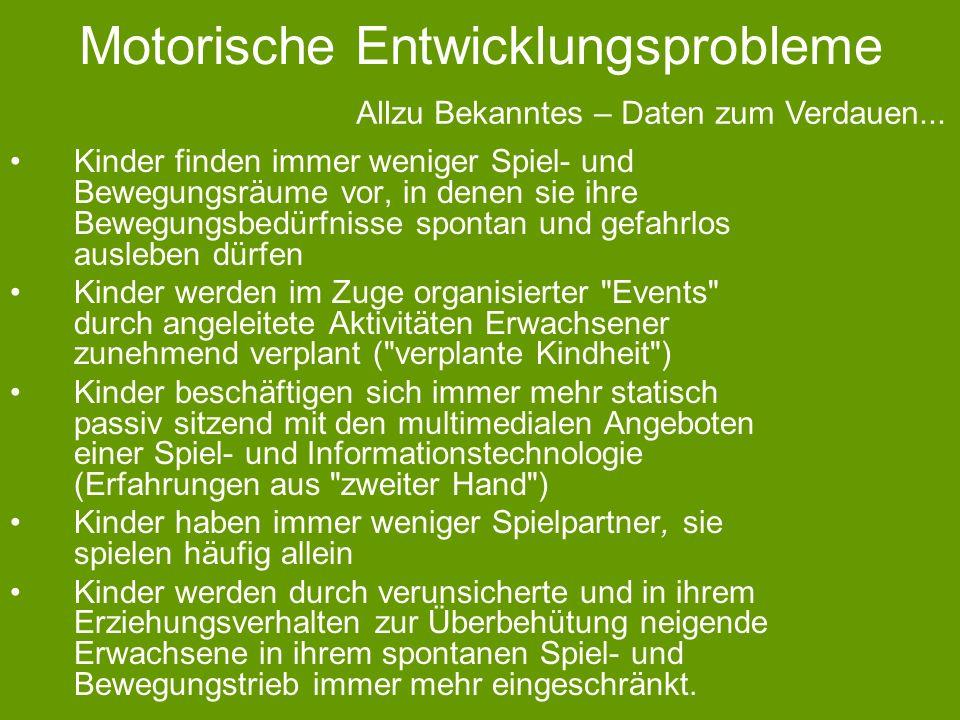 Motorische Entwicklungsprobleme