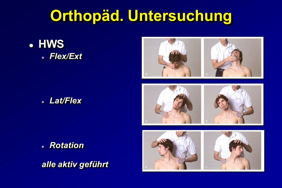 Orthopäd. Untersuchung