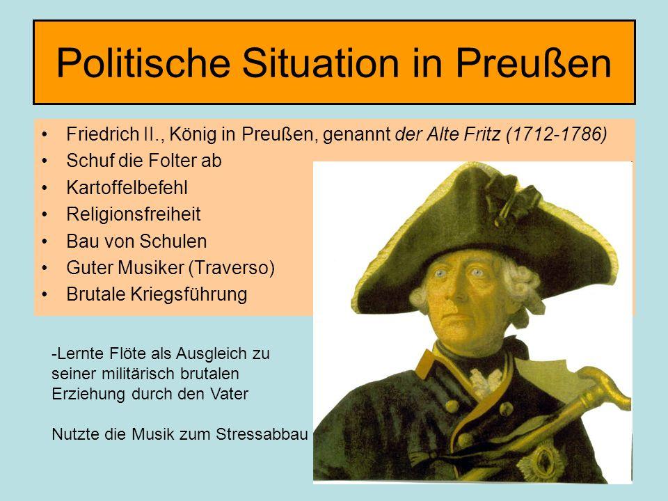 Politische Situation in Preußen