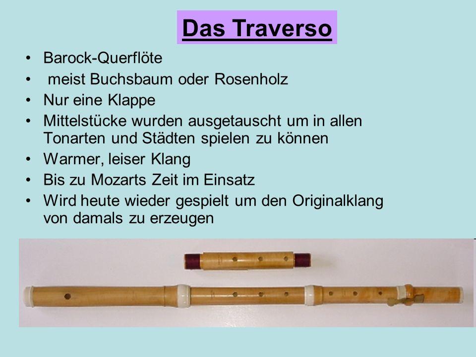 Das Traverso Barock-Querflöte meist Buchsbaum oder Rosenholz
