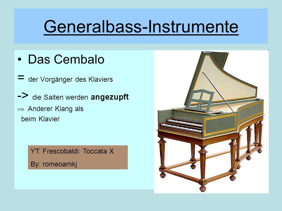 Generalbass-Instrumente