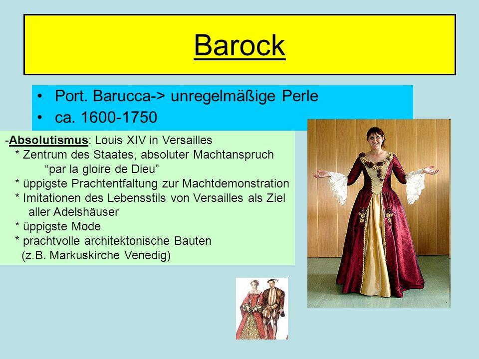 Barock Port. Barucca-> unregelmäßige Perle ca. 1600-1750