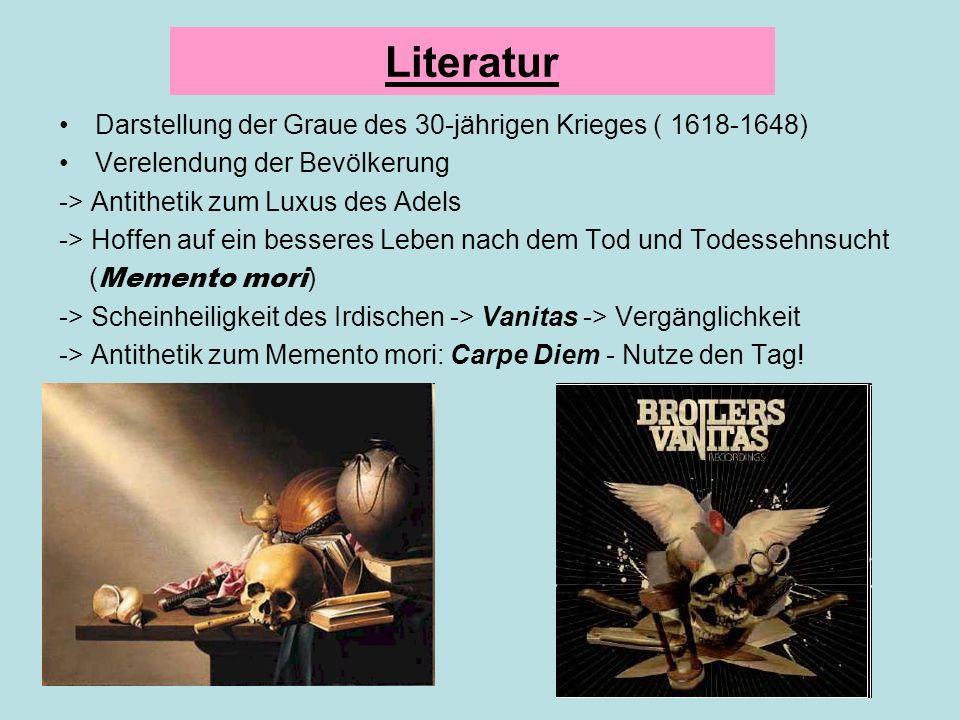 Literatur Darstellung der Graue des 30-jährigen Krieges ( 1618-1648)
