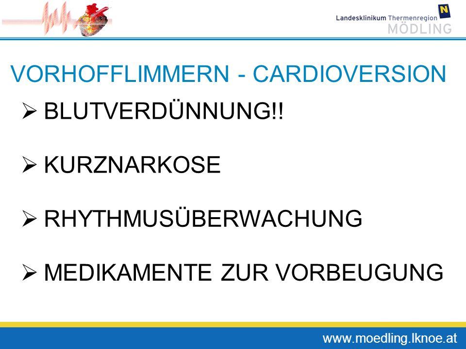 VORHOFFLIMMERN - CARDIOVERSION