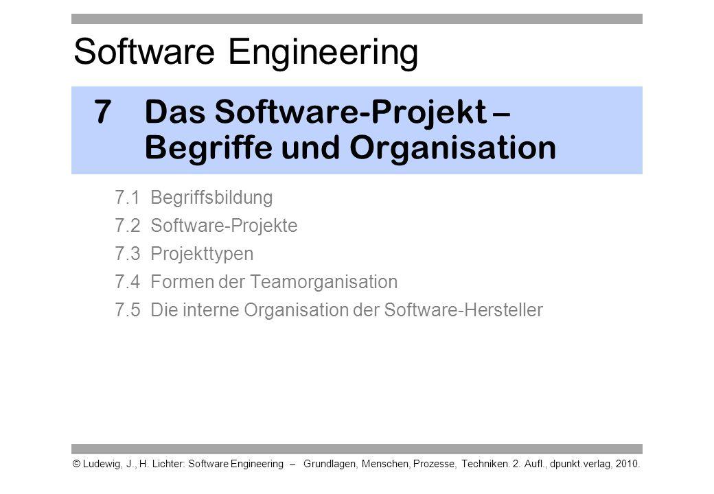 7 Das Software-Projekt – Begriffe und Organisation