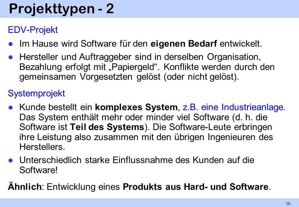 Projekttypen - 2 EDV-Projekt