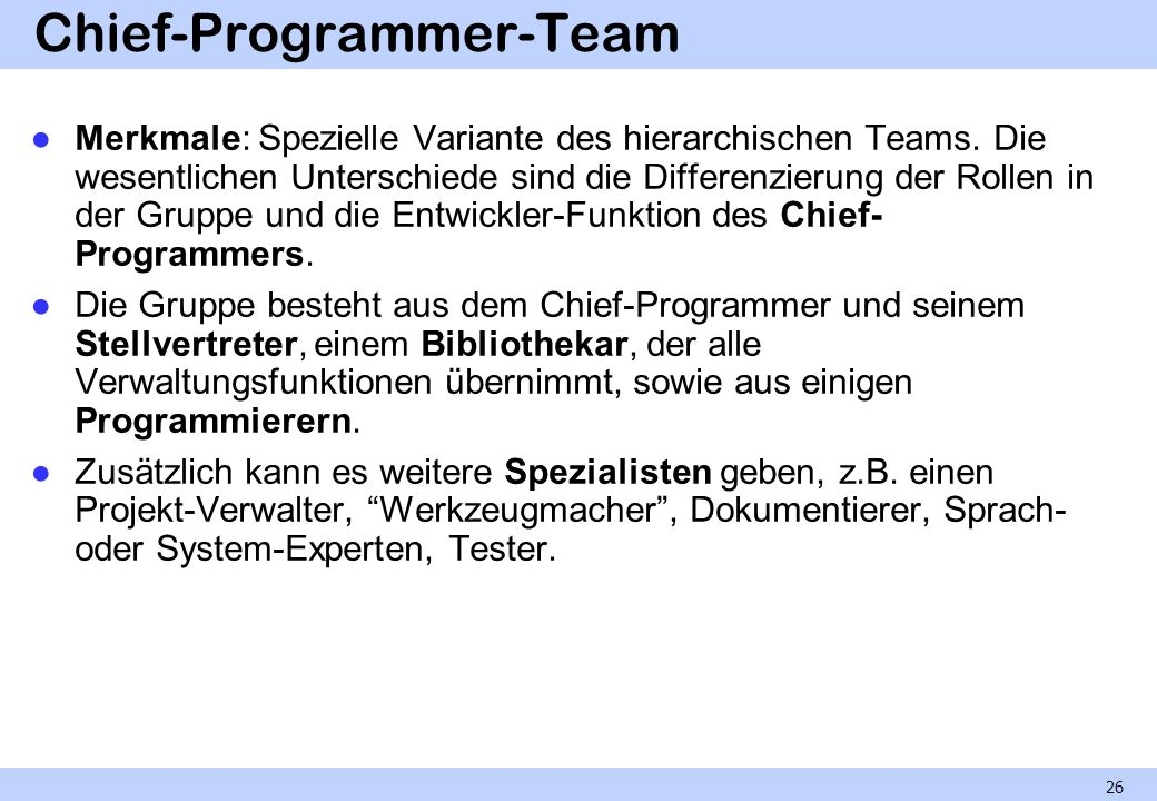 Chief-Programmer-Team