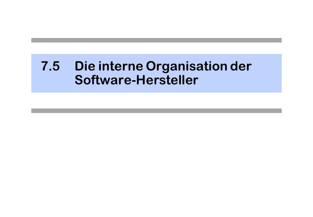 7.5 Die interne Organisation der Software-Hersteller