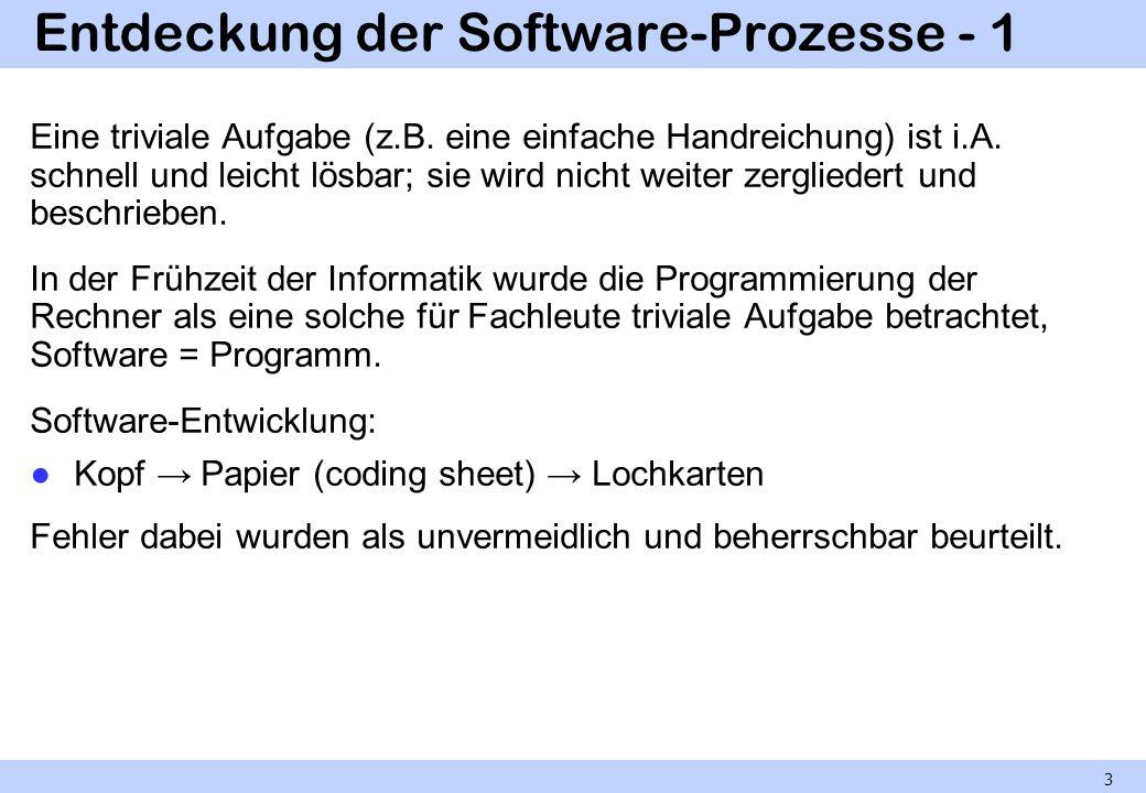 Entdeckung der Software-Prozesse - 1