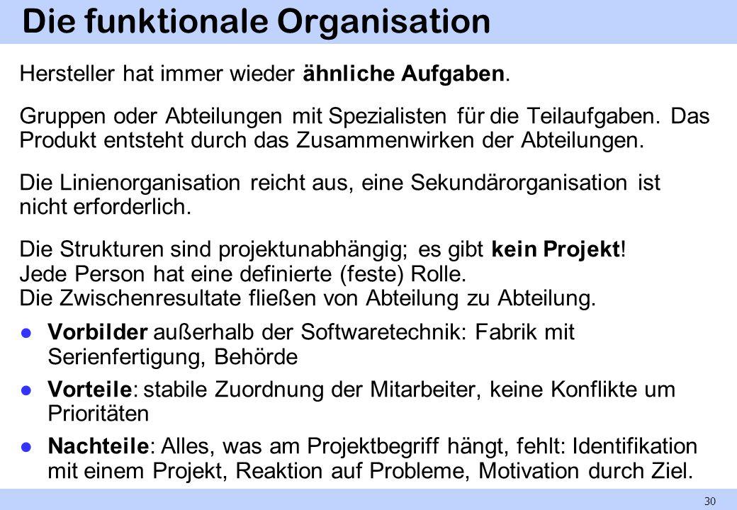 Die funktionale Organisation