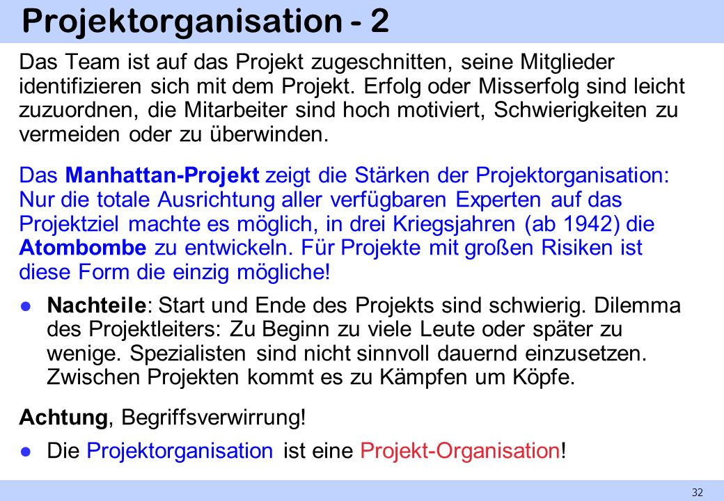 Projektorganisation - 2