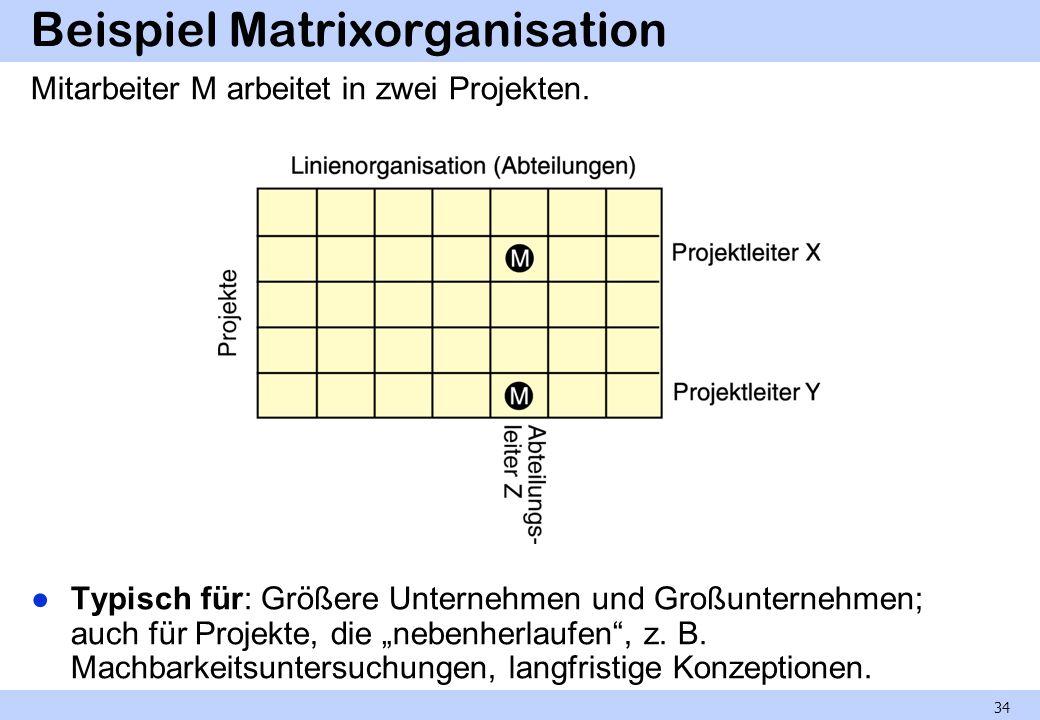 Beispiel Matrixorganisation