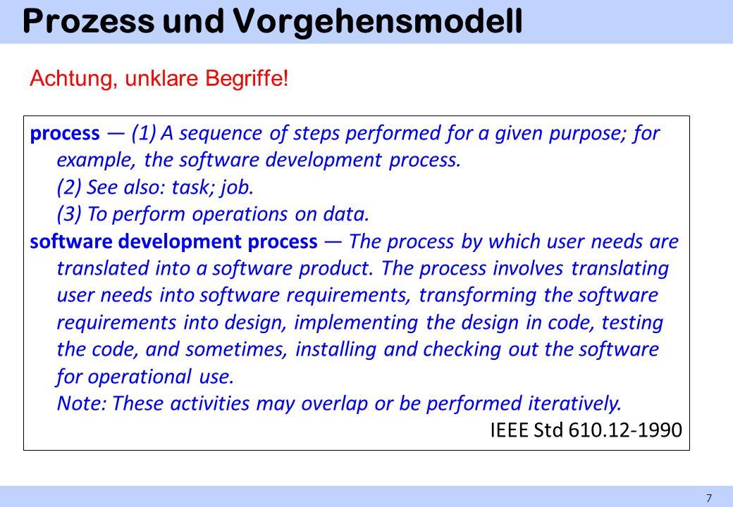 Prozess und Vorgehensmodell