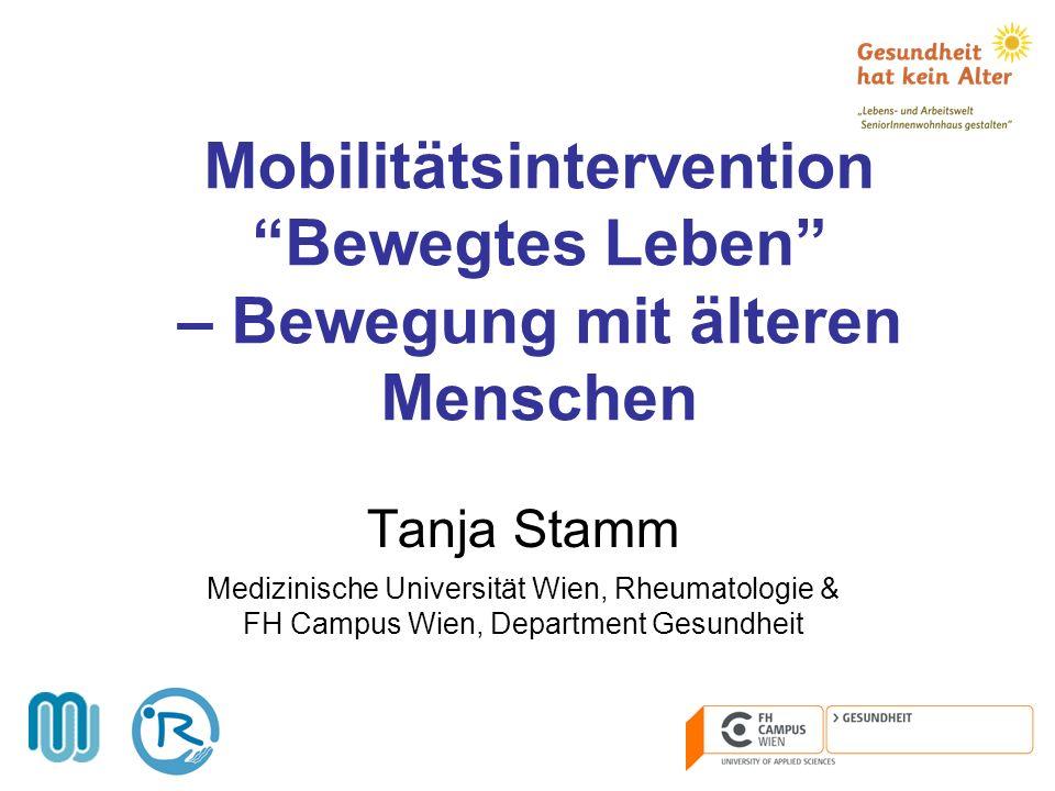 Mobilitätsintervention Bewegtes Leben – Bewegung mit älteren Menschen